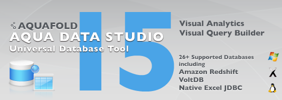 Aqua Data Studio 15.0 - Universal Database Tool