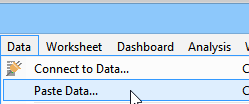 Paste clipboard data as a Data Source
