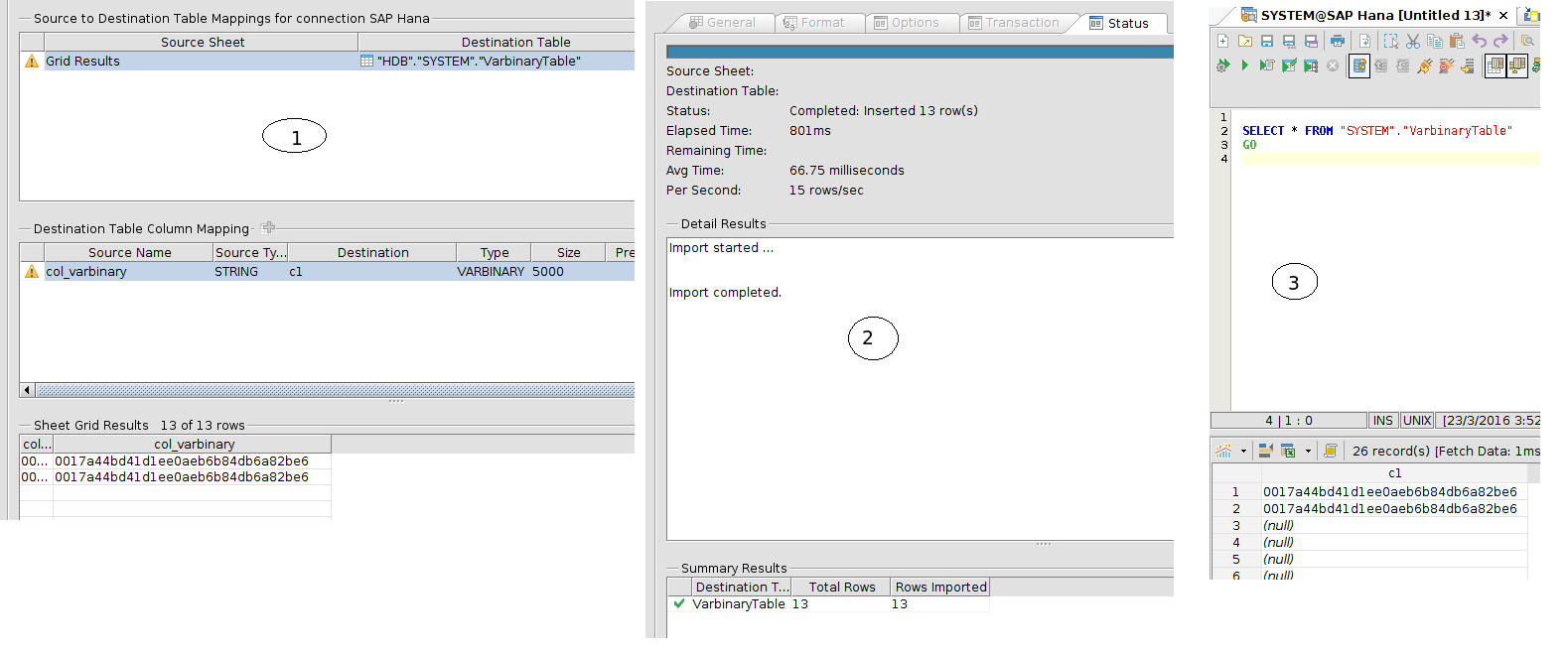 13646: Insert statement is not generated with right values for
