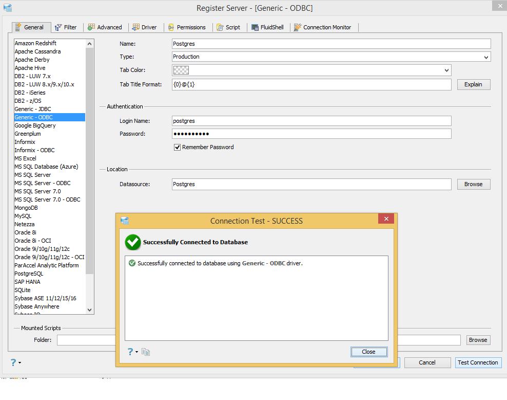 14210: JDBC-ODBC is not working with java 1 8 | Aqua Data Studio