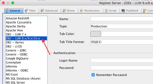 15058: IBM DB2 LUW Server type for DB2 v11 x | Aqua Data Studio