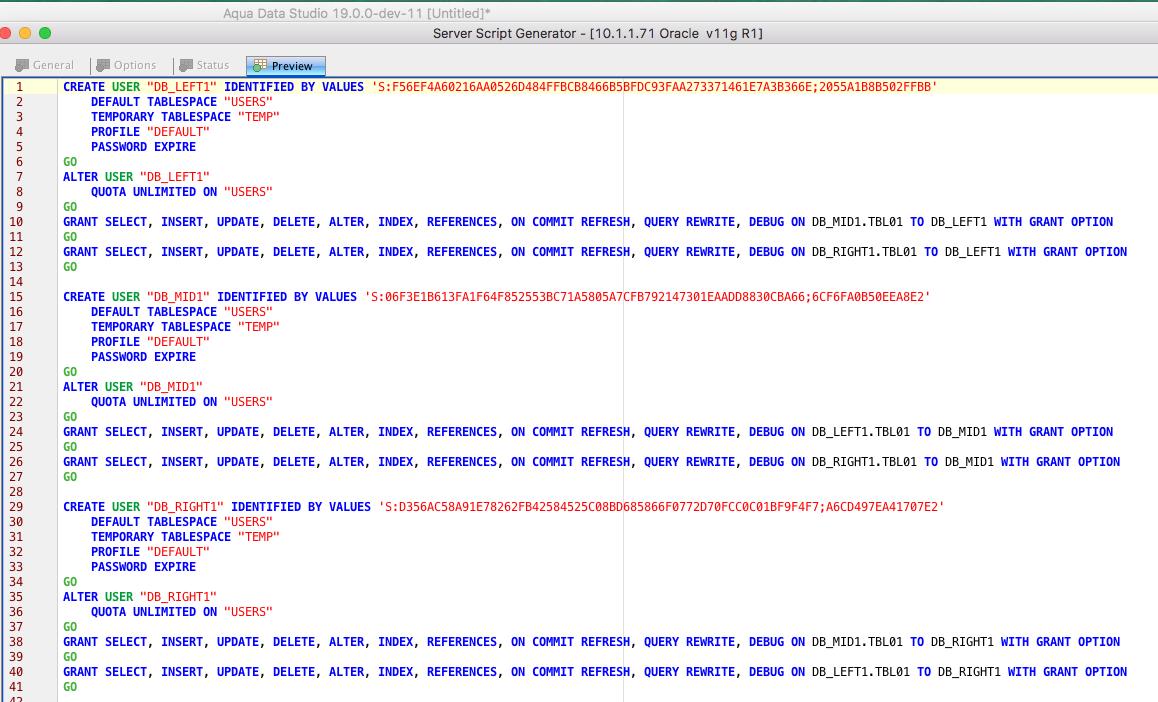 15115: ServerScriptGenerator not extract object grants