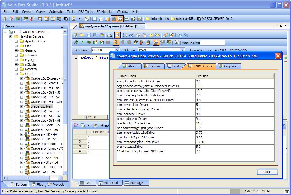 JDBC Driver Configuration