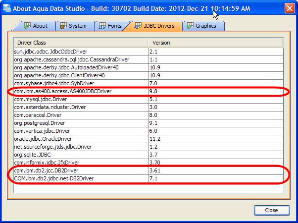 DB2 9.5 JDBC DRIVERS FOR WINDOWS VISTA