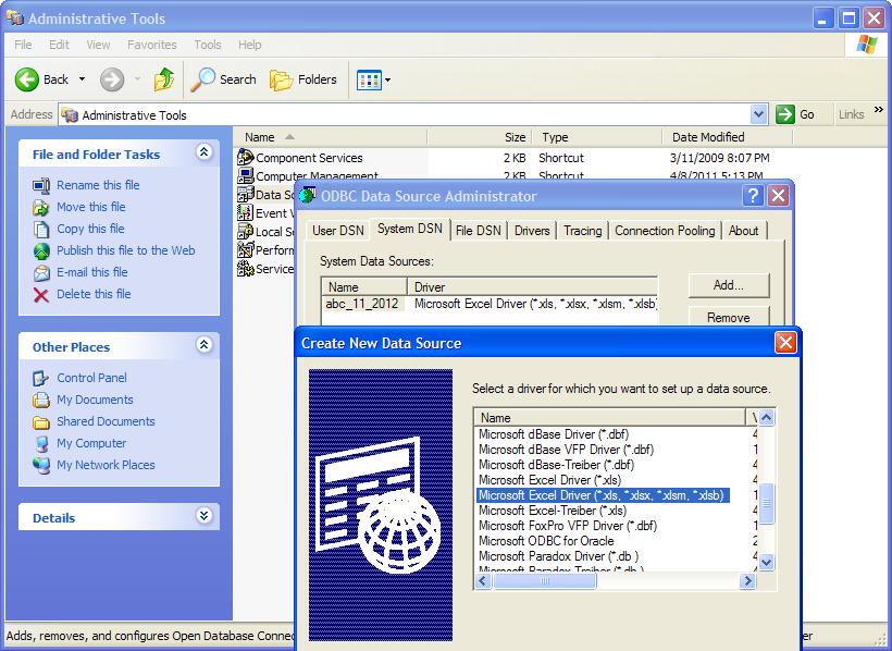 Microsoft Excel Generic ODBC | Documentation 13 0 | Aqua Data Studio