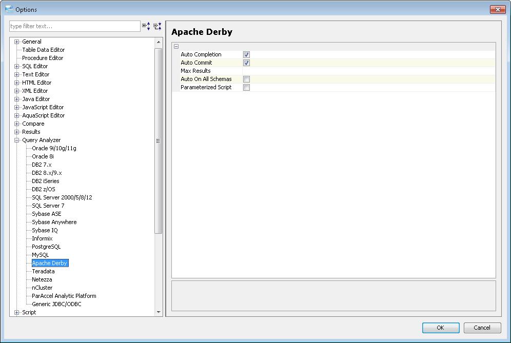 Application - Options - Query Analyzer Options - Documentation