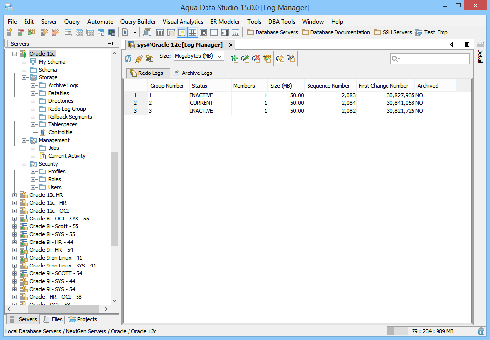 Oracle DBA Database Administration Tools - Log Manager