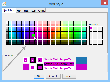 Chart Properties Color Documentation 170 Aqua Data Studio