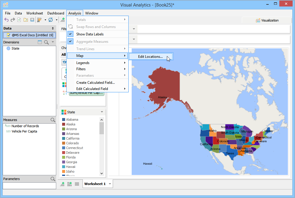 How To Make A Filled Map Chart Documentation Aqua Data Studio - Create a map of the us with locations marked