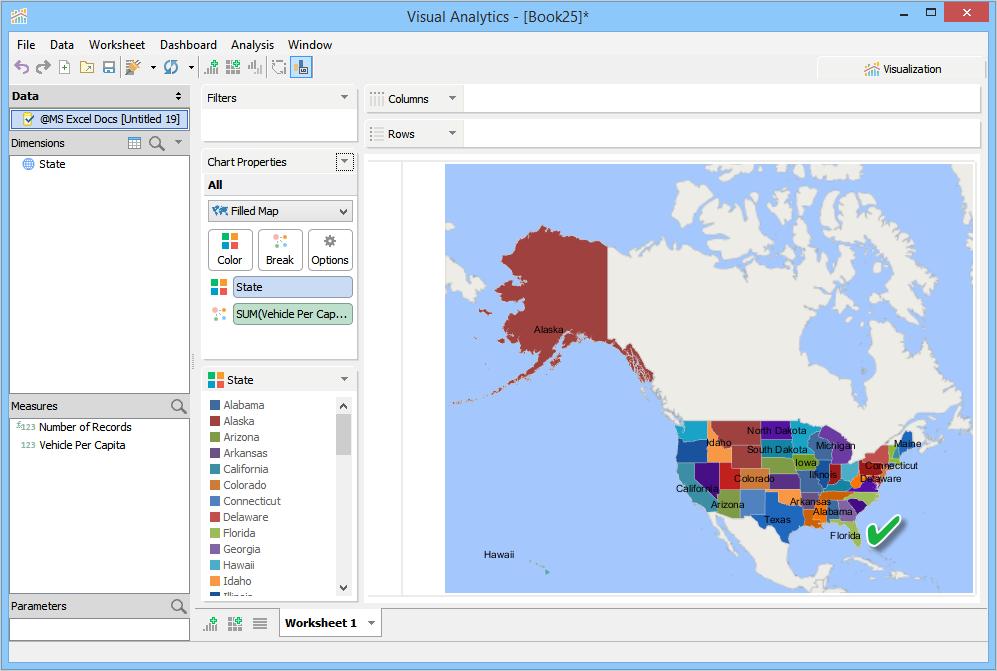 How to Make a Filled Map Chart | Documentation 17.0 | Aqua Data Studio