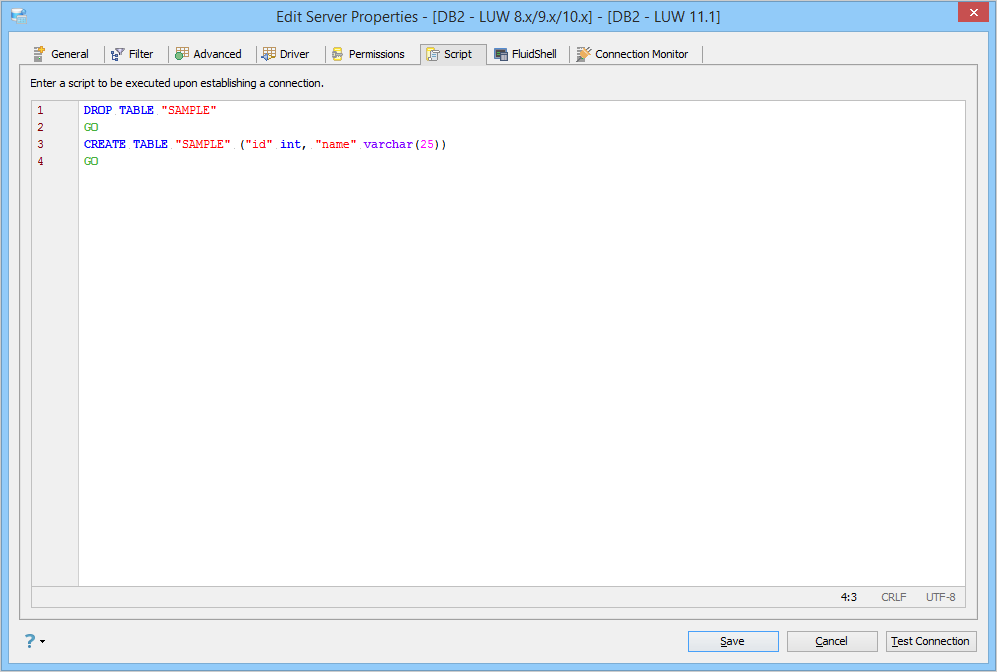 Registering Server DB2 for Linux Unix Windows (LUW)