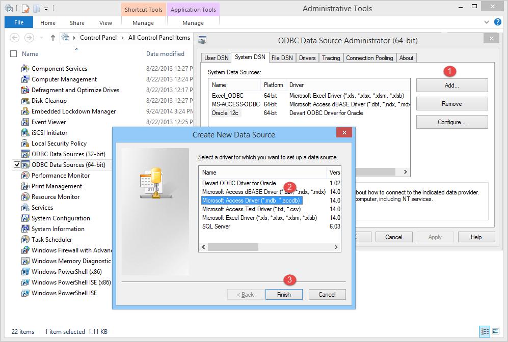 microsoft 64 bit access driver