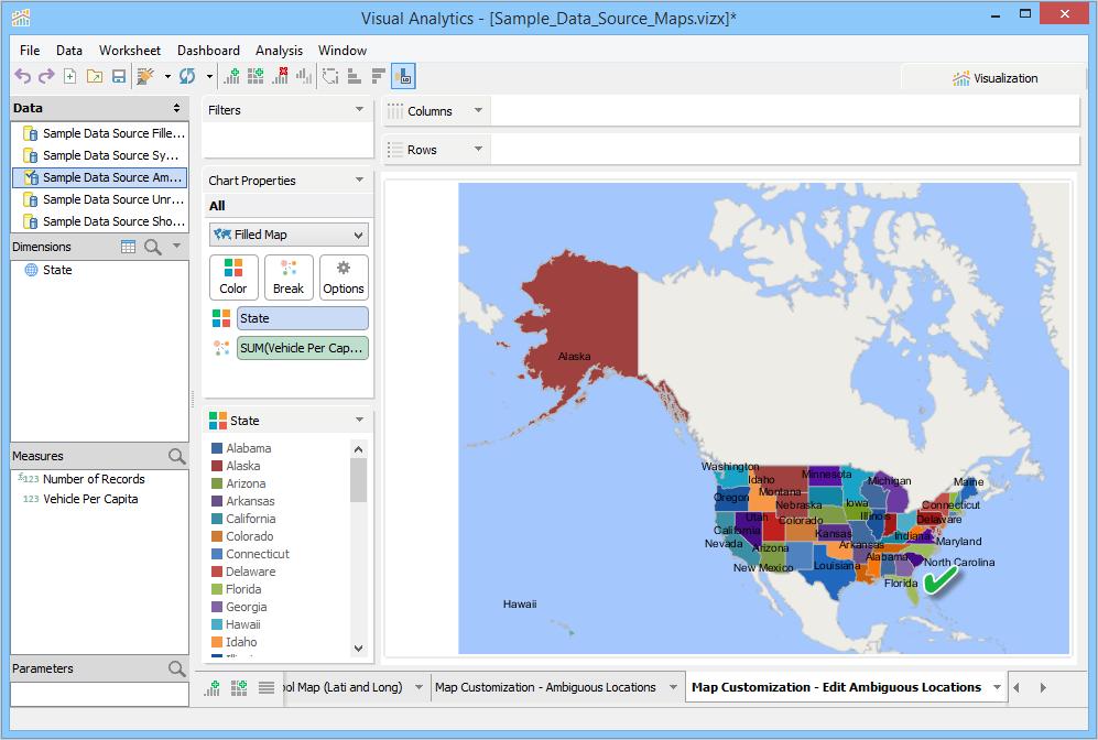 Map Customization | Documentation 18.5 | Aqua Data Studio