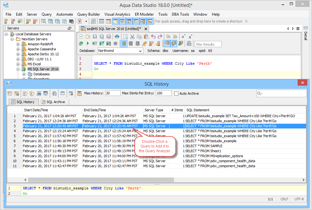 SQL History and Archive