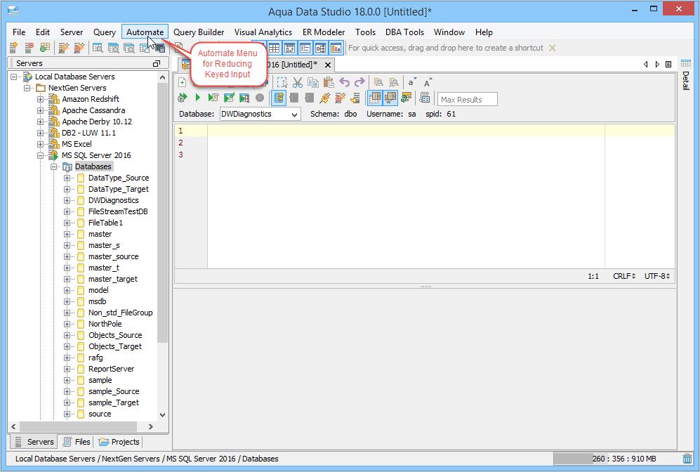 Automate Insert, Update, Select