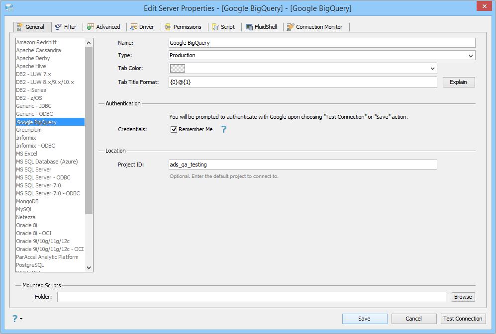 Google BigQuery   Documentation 18 0   Aqua Data Studio
