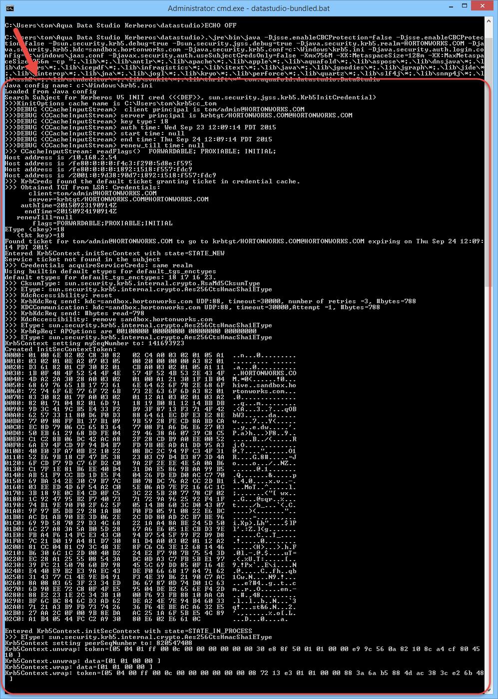 Kerberos Configuration | Documentation 18 0 | Aqua Data Studio