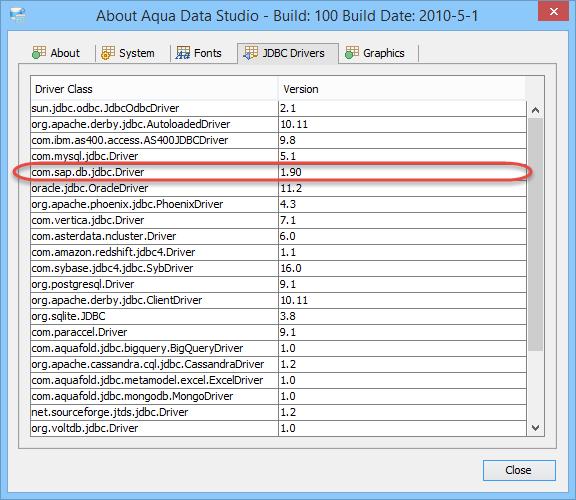 SAP Hana JDBC Drivers | Documentation 18 0 | Aqua Data Studio