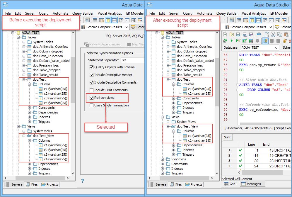 Schema Synchronization   Documentation 18 0   Aqua Data Studio