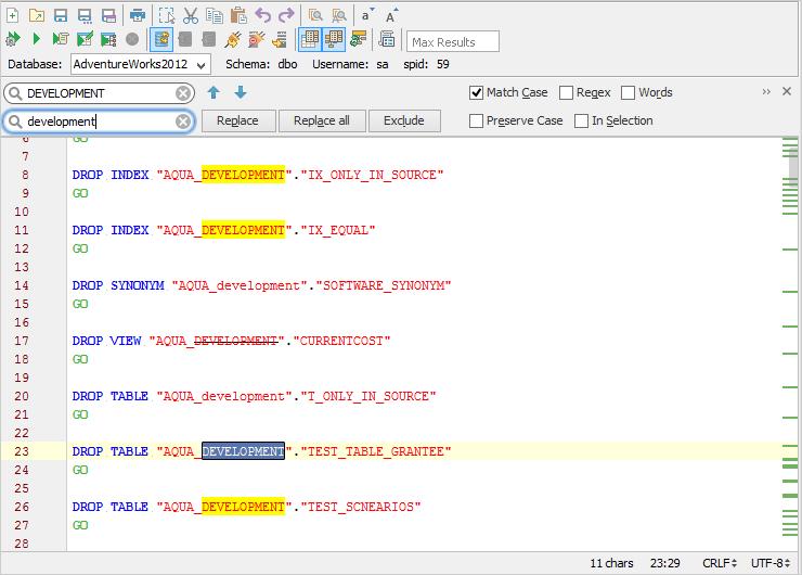 Standard Options Across All Editors   Documentation 18 0   Aqua Data