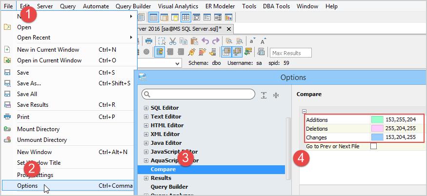 Standard Options Across All Editors | Documentation 18 0