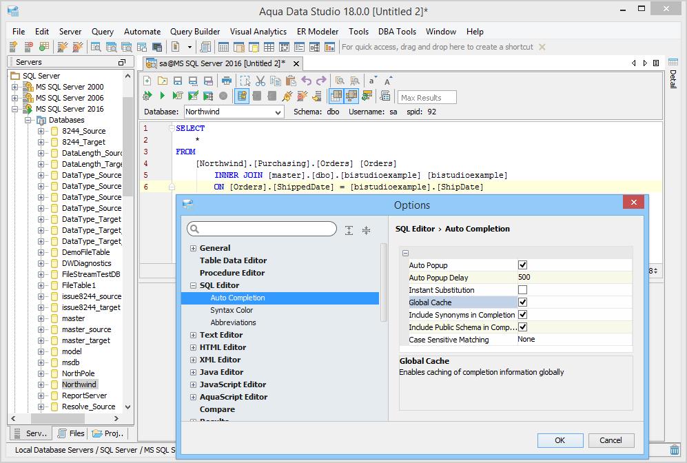 Autocompletion SQL