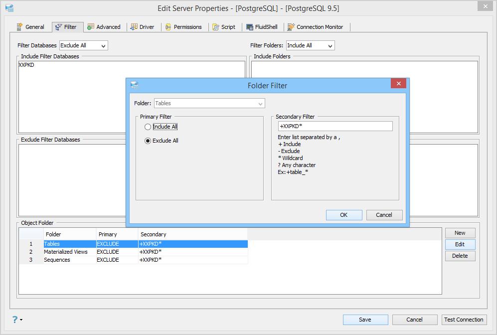 Registering Server PostgreSQL