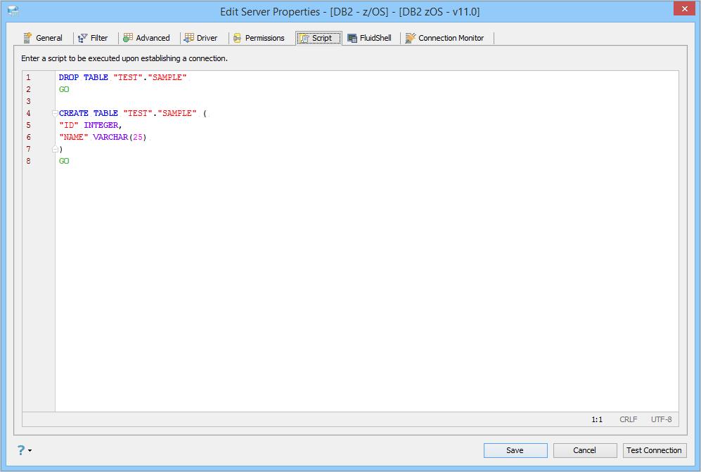 Registering Server DB2 for zOS - Mainframe
