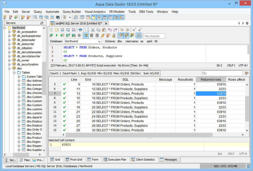 SQL Query Results