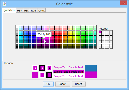 Chart Properties Color Documentation 190 Aqua Data Studio