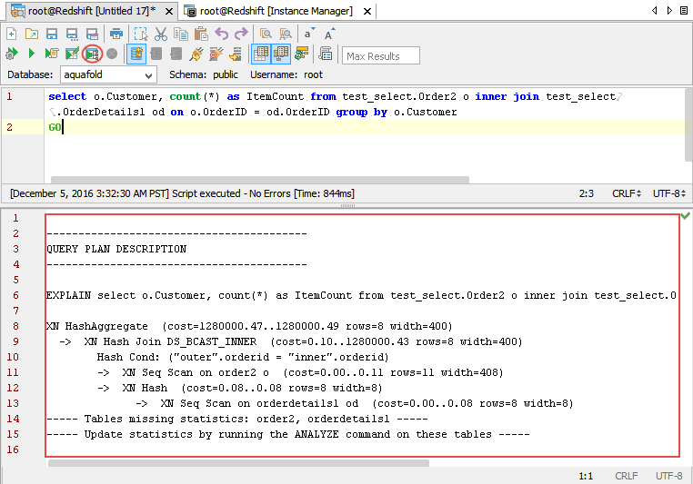 RedShift Visual Explain   Documentation 19 0   Aqua Data Studio
