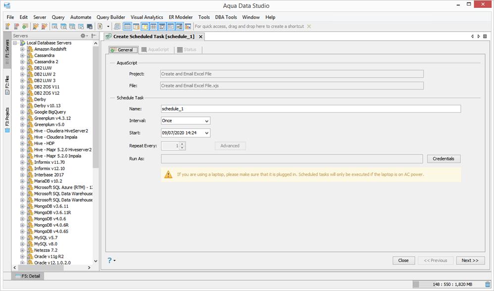 Aqua Data Studio - Screenshot for how to visually build queries