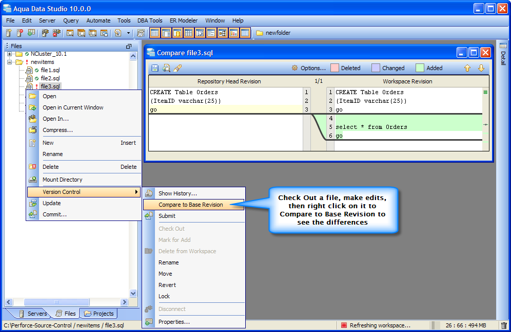 2  Perforce Version Control Support | New Features - Version