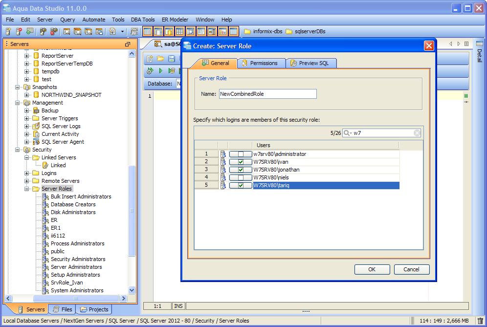 SQL Server 2012 Support | New Features - Version 11 0 | Aqua