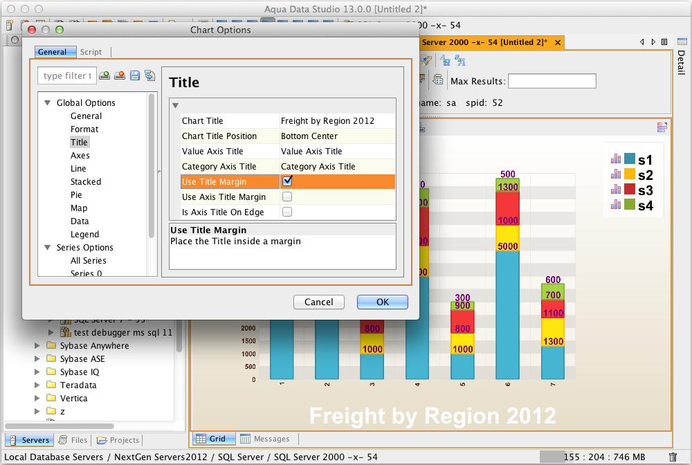 Chart Enhancements | New Features - Version 13 0 | Aqua Data Studio