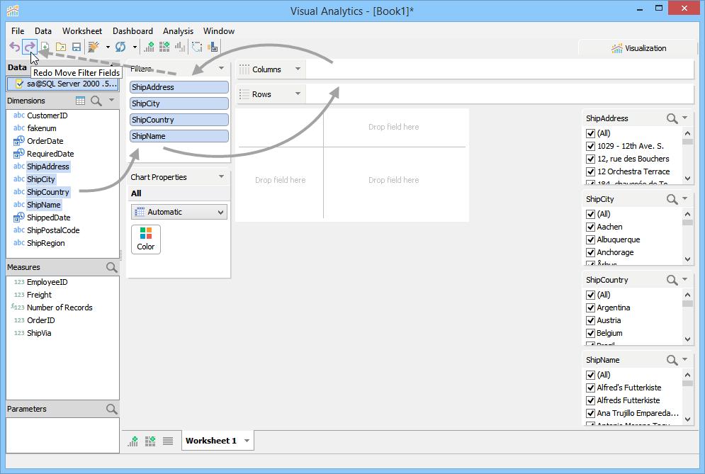 Undo and Redo | New Features - Version 16.0 | Aqua Data Studio