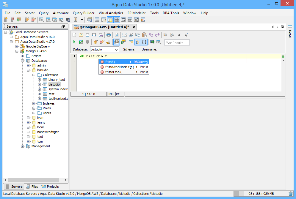 MongoJS Query Analyzer   New Features - Version 17 0   Aqua