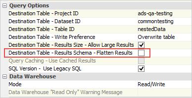 Google BigQuery Enhancements | New Features - Version 18 0